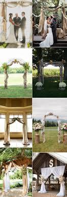 wedding arch lace 30 rustic burlap and lace wedding ideas elegantweddinginvites