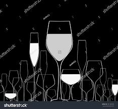 cocktail party vector menu ilustrationsuitable postersuitable