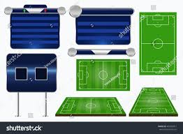 broadcast graphics sport program soccer match stock vector