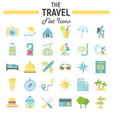 Colorado Travel Symbols images Travel flat icon set tourism symbols collection transportation jpg