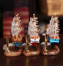 sale wooden sailing ship handmade carved model boat home