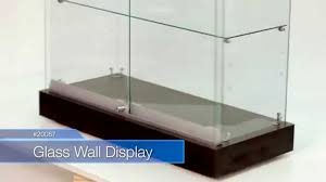 merchandise display case how to assemble a glass wall display case item 20087 youtube