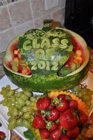 graduation fruit arrangements carved watermelon bowl recipe grad graduation ideas and