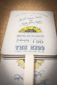 wedding program fans kit diy wedding program fan kit sunflower order by fossilletterpress