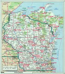Map Of Usa States With Cities by Large Roads And Highways Map Of Wisconsin State With National