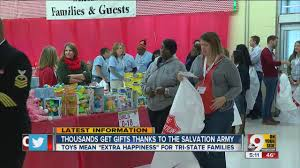 salvation army shop provides gifts for needy