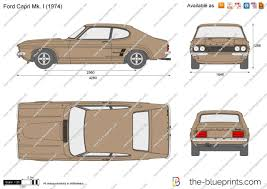 Ford Capri 1971 The Blueprints Com Vector Drawing Ford Capri Mk I