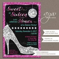 sweet sixteen invitations sweet 16 birthday party invites high