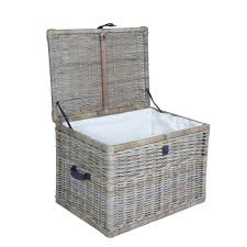 deep kubu wicker storage trunk storage trunk storage and brass