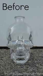 Glass Halloween Ornaments by Diy Halloween Decor Gold Glitter Skull From Evija With Love