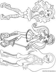 elissabat monster coloring pages coloring pages