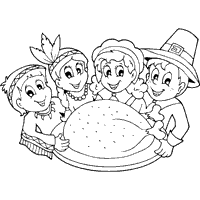 Thanksgiving Pilgrims And Indians Pilgrims Coloring Pages Surfnetkids
