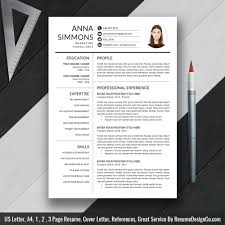 elegant resume template clean cv template cover letter us