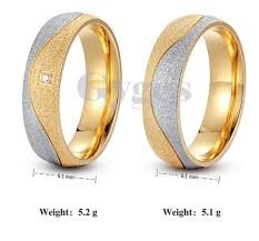 engagement couple rings images 2016 new stainless steel 18k gold plated couple ring for lovers cz png