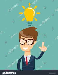 thinking business concept stock illustration poster stock