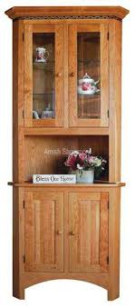 corner kitchen hutch furniture simply amish 2 door open corner china cabinet kcc36ochb