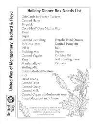 thanksgiving thanksgiving tfa shopping list food photo ideas for