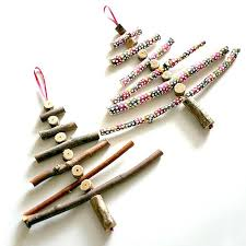 tree ornaments made of twigs trees made out of