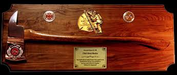 station house gifts ax plaques and custom memorial plaques