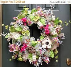 outdoor wreaths for front door on sale bird house wreath