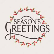 season s greetings typography for new year greeting ca
