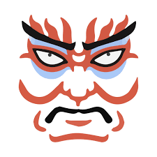 japanese kabuki mask graphic design novelty kabuki mask t