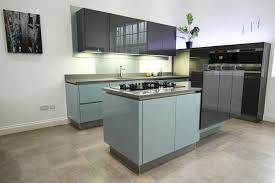 High Gloss Acrylic Kitchen Cabinets by High Gloss Steel Blue Acrylic Kitchens