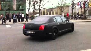 matte bentley awesome matte black bentley continental flying spur on the road in