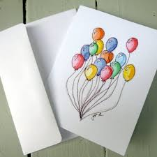 watercolor notecards colorful balloons notecards watercolor cards set of 4