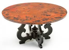 Copper Top Dining Room Tables Excellent Hammered Copper Dining Table 32 On Dining Room Table