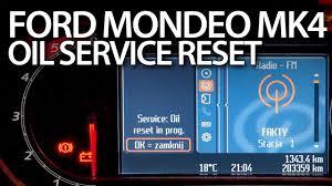ford mondeo mk4 reset service oil reminder inspection maintenance