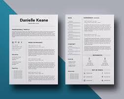 Modern Resume Template Word Modern Man Resume Template Mac Or Pc Minimalist Resume 1 Page