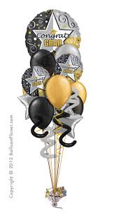 retirement balloon bouquet grad iv balloon bouquet 12 balloons w 16in by