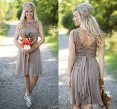 country bridesmaid dresses 2016 new short for weddings chiffon