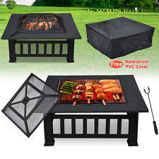 Fire Pit Insert Square by Outdoor Fire Pit Ebay