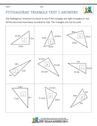 Surface Area And Volume Worksheets Grade 7 Pythagoras Theorem Questions