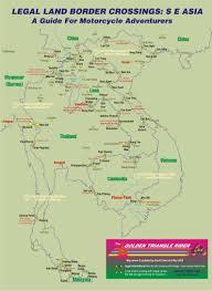 Border Patrol Checkpoints Map Thailand Laos Cambodia Myanmar Border Crossings Motorcycle