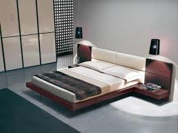 bed design with side table furniture brown wooden flat platform bed frame with striped idolza