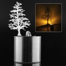 pine tree romantic led shadow projector candle home bedroom night