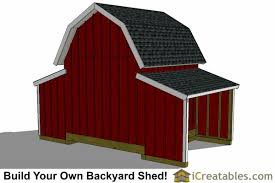 Hip Roof Barn Plans 10x18 Gambrel Small Barn Shed Plans Barn Shed Plans