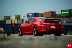 nissan 370z custom rims red nismo 370z vossen wheels