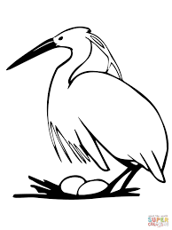 heron laying egg coloring page free printable coloring pages