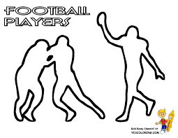 pictures footballs print kids coloring