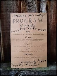 simple wedding program wording the wedding program what is in a wedding program