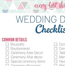 planning your own wedding wedding detail checklist every last detail