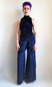blue velvet jumpsuit black strapless velvet jumpsuit galvan avenue32 onesies