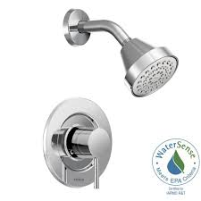 moen align single handle posi temp shower faucet trim kit in