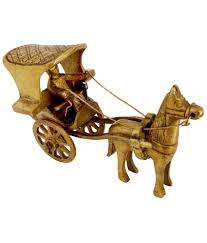 pindia fancy home decor brass small horse cart show piece buy