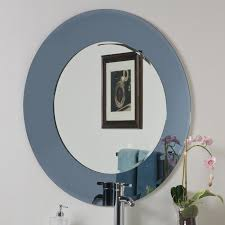 Frameless Molten Wall Mirror by Decor Wonderland Ssm500 Camilla Round Modern Bathroom Mirror The