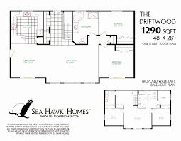 ranch house plans with walkout basement lake house floor plans with walkout basement lovely decor atrium